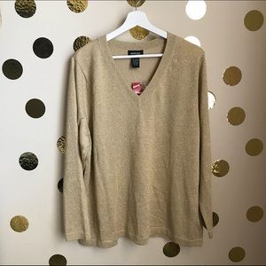 AVENUE Gold Sweater